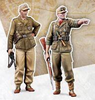 Resin 1/35 WWII DAK German 2 Soldiers Unpainted unassembled BL430