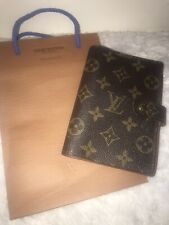 100% Auth. Louis Vuitton Cover Agenda Planner PM Brown Monogram Made In Spain