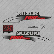 Suzuki 25HP Four Stroke Outboard Engine Decals Sticker Set reproduction 25 HP