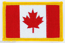PATCH ECUSSON BRODE DRAPEAU CANADA  INSIGNE THERMOCOLLANT NEUF FLAG PATCHE