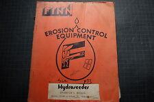 FINN TITAN SUPER 30 HYDROSEEDER Service OPERATOR Manual repair book shop GUIDE