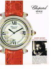 PUBLICITE ADVERTISING  1995  CHOPARD  montres