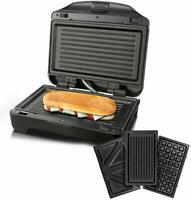 Taurus Miami Premium Sandwich Toaster Interchangeable 900 W Stainless Steel