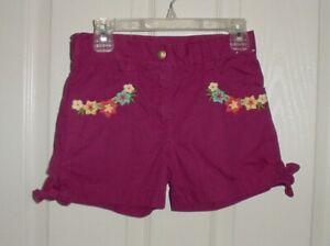 EUC Gymboree Girls JUNGLE GEM Purple Magenta Floral Bow Shorts Size 8 VHTF