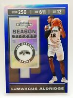 Panini Contenders Optic 2019-20 blue prizm 60/99 card #53 LaMarcus Aldridge