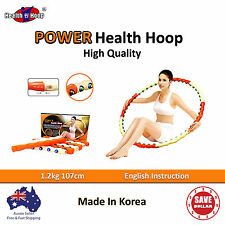 POWER HEALTH Hoola Hula Hoop Diet Massage Exercise Gym Weighted  Fitness Ring