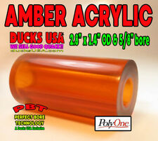"Duck Call Acrylic Amber Barrel Blank with Perfect Bore Technology 2.7"" x 1.5"" Od"