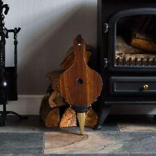 Bellows Dark Brown Fireside Fireplace Traditional Stove Fire Lighter Blower