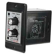 Twin Timer Relay On Off Knob Control Time Switch 6S-60M () DC12V