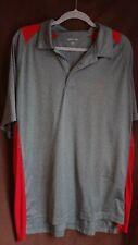 Sport Tech Gray and Red 2Xl Men's Collared Dress Shirt