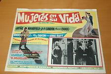 JAYNE MANSFIELD THE GEORGE RAFT STORY 1961 VINTAGE LOBBY CARD 42x32 cm