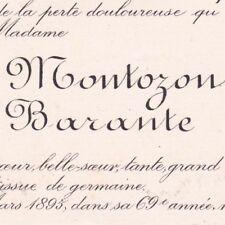 Lucie Elisabeth De Montozon Prosper Claude Brugière De Barante Dorat 1895