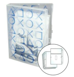 PlayStation Video Game Case, Stores 10 Discs and Graphic Books - Clear