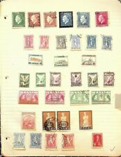 Greece 132 Early Stamps On Homemade Album Pages. Most Used With Some Mint