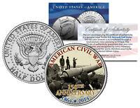 CIVIL WAR - 150th Anniversary * Fort Putnam * JFK Kennedy Half Dollar U.S. Coin