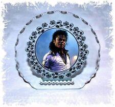 Michael Jackson Photo Diamante Round Plaque Gift Any Occasion Keepsake