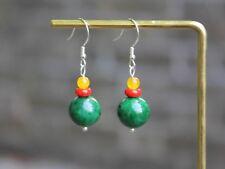 Handmade Sterling silver multicoloured beads earrings Boho jeweller Gift for her