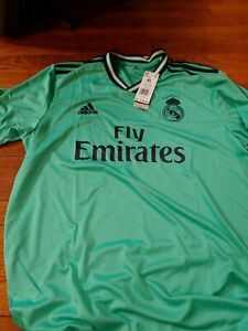 NEW Adidas Real Madrid 3rd Soccer Jersey Mint Green EH5128 Men Size Extra Large