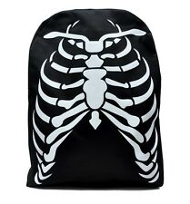 Deathrock Skeleton Rib Cage School Backpack Gothic Punk Bag Metal Alternative