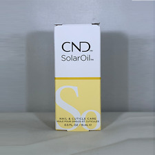 100% Auténtico CND SOLAR ACEITE Uña & Cutícula Acondicionador 15ml .5 fl. OZ.