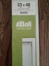 "Bali Blinds Light Filtering Cellular FABRIC Size 23 x 48 "" WHITE NIB"