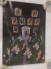 Vtg 1984 Budweiser Beer Fraternity House Poster 80's Frat Bud College