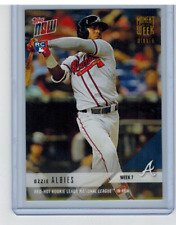 2018 Topps Now Moment of the Week 7 Gold Ozzie Albies Rookie Braves