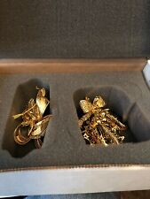 Danbury Mint 2006 Gold Christmas Ornaments With Box Set Of 2