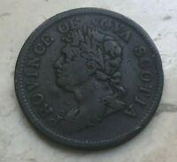 1824 Nova Scotia 1 One Penny Token