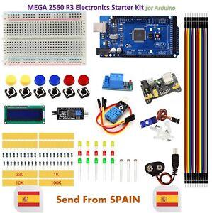 Upgrade Kit MEGA 2560 R3 Breadboard LED LCD SG90 DHT11 Relay MB102 for Arduino