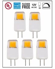 UL-Listed G4 LED Light Bulb, 5-Pack, Epistar COB 1.7W,Dimmable,220 lm,Warm White
