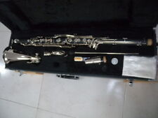 Professional Bass Clarinet With PADS Case Low Eb keys silver plated #A06