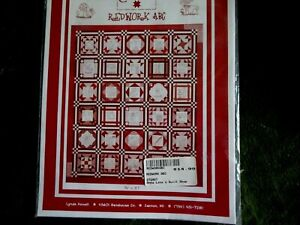 embroidery pattern redwork ABC quilt squares