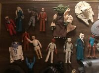 Big Lot of Vintage 1970s 1980s Kenner Star Wars Action Figures Yoda, Vader, Luke