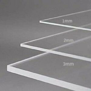 Cut To Any Size Perspex Acrylic Sheet Clear Panel Laser Plastic Extrude 2mm 3mm