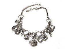 Bijou alliage argenté collier breloques la Fée Carabosse necklace
