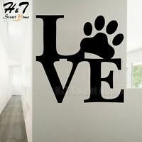 Love Dog Paw Puppy Animal Vinyl Wall Sticker Decal Kids Room Nursery Pet Shop
