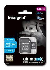 Integral 128GB UltimaPro X2 microSDXC 280/100MB UHS-II V60 8K, 4K, 2K, Full HD.