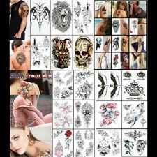 Temporary Tattoo Stickers Waterproof Arm Leg Body Art Fake Colorful Tattoos US