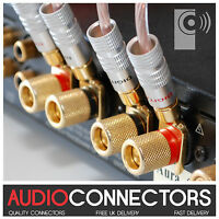4 x 24K Gold plated Y Fork Speaker Spade /Amp cable connector - THATS AUDIO SP2