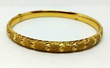 "Solid 14K Gold fancy Bangle Bracelet 8.59 grams 2.5""  #"