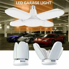 E27 Deformable LED Garage Light Bulb Ceiling Fixture Lights Shop Workshop Lamp