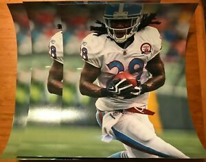 (Lot of 3) Chris Johnson 11x14 Tennessee Titans color photos