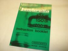 Lambretta DL 125 150 200 Owners Manual English Text Instruction Booklet (1FB111)