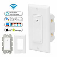 Smart WIFI Wall Outlet Light Switch Timing APP Control Work w/ Alexa Google Home