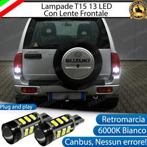 LAMPADE RETROMARCIA 13 LED T15 W16W CANBUS PER SUZUKI GRAN VITARA 6000K NO ERROR