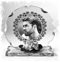 George Michael glass Photo custom made remembrance Edition