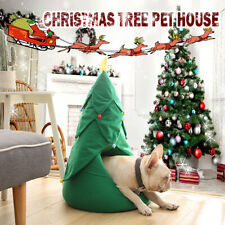 Christmas Pet House Soft Nest Bed Dog Cat Tree Shape Cat House Home Beds Cave