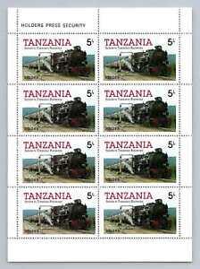 Tanzania 1985 SG#430, 5s Railway Locomotive MNH M/S Sheet #M1182A