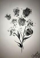 ORIGINAL Malerei A3 PAINTING abstract abstrakt contemporary art blumen flower om